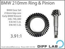 BMW M3 M5 M6 E36 E46 E60 E92 Diff Gears Ring and Pinion 210mm Motorsport 3.91