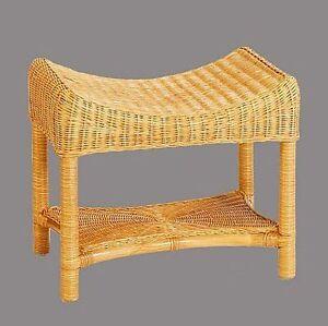 rattan hocker neu farbe honig rechteckig mit ablage. Black Bedroom Furniture Sets. Home Design Ideas
