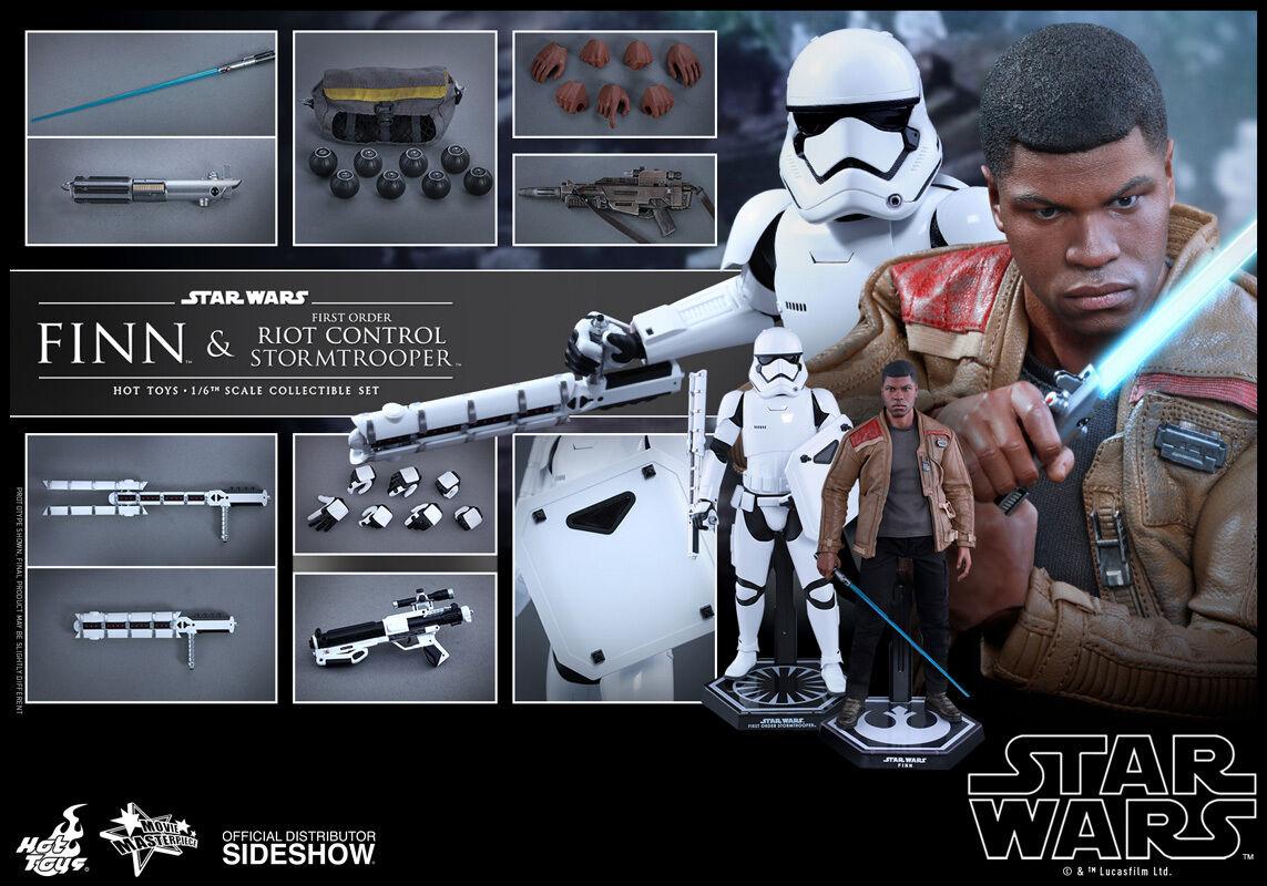 Caliente giocattoli  estrella guerras FINN & RIOT CONTROL STORMTROOPER cifra Set 1 6 Scale MMS346  consegna gratuita