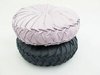 Kylie Filled Cushion Lilac & Black Round Sparkle Scatter Luxury Diamante Circle
