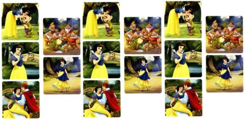 Dopey Prince Charming SNOW WHITE and the Seven Dwarfs 15 LARGE Stickers