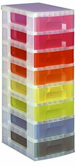 24Hr Del 3 x 18 Litre Really Useful Stackable Storage Plastic Boxes Containers