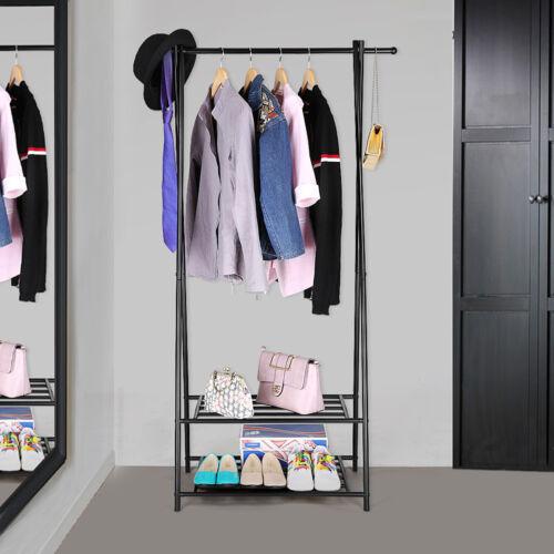 SONGMICS Kleiderstange Kleiderständer Garderobenständer mit Schuhablage