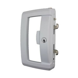 Lockwood 9A1A2/5PWHI Onyx Sliding Patio Door Lock Slim Outer Pull ...