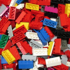 Used-LEGO-500g-Packs-Slopes-3037-Schraegstein-45-2-x-4