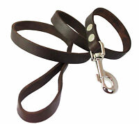 Genuine Leather Classic Dog Leash 3/4 Wide 4' Long For Large Dogs