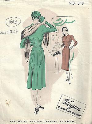 """1947 Vintage Sewing Pattern B34/"""" COAT 82"""