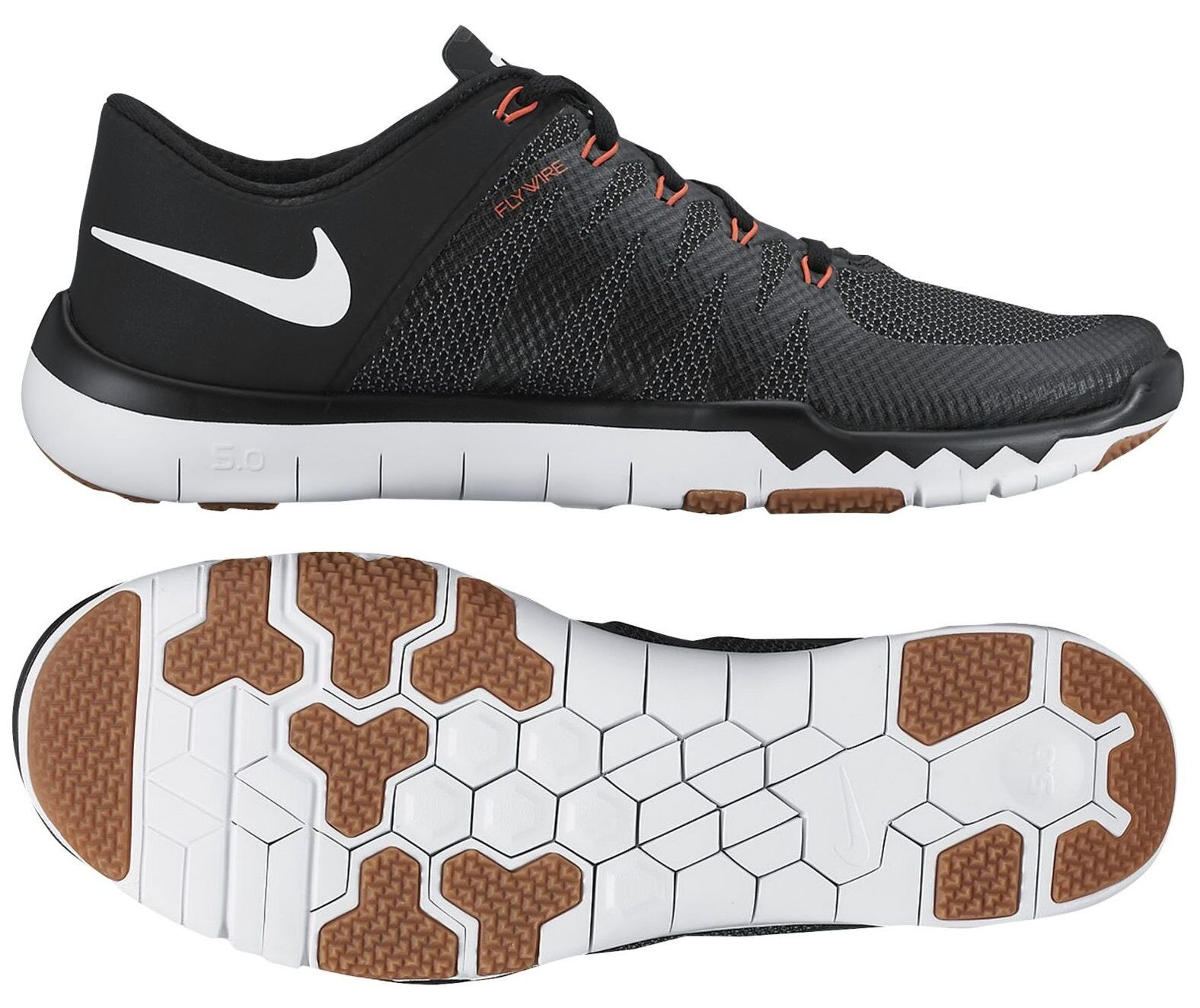 NIKE FREE TRAINER 5.0 V6 MEN's MESH BLACK - WHITE - COOL GREY - BRIGHT CRIMSON