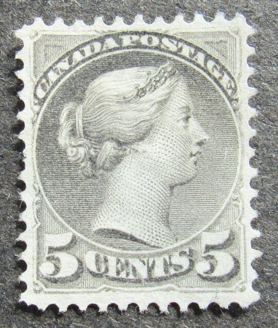 Canada 1876 5C Queen Victoria black-grey, Mi #29bA MNG