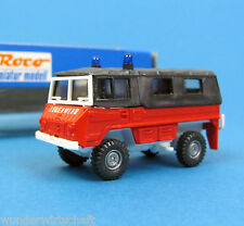 Roco H0 1321 PINZGAUER 4x4 Feuerwehr Geländewagen mit Plane OVP HO 1:87