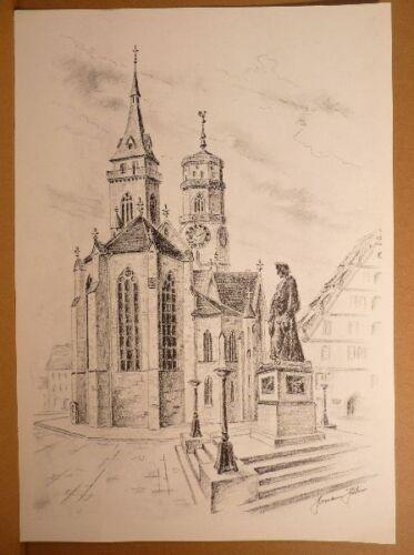 * 1926 Stoccarda-il Schiller spazio con penna Chiesa Kurt Hermann audace