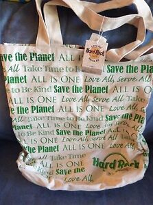 HARD ROCK CAFE AUTHENTIC REUSEABLE TOTE BAG - NEW WITH TAGS