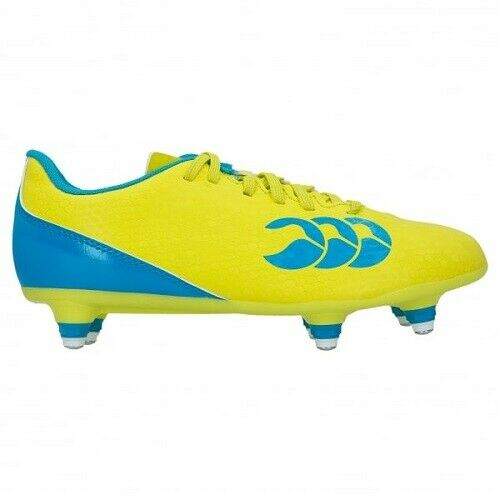 UK 1 13 Lime Green//Blue -New Canterbury Kid/'s Speed 2.0 SG Rugby Boots 5.5