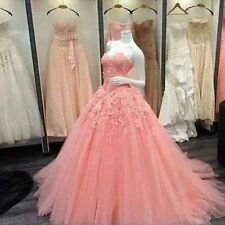 New Lace Ball Gown Prom Pageant Quinceanera Dress Formal Evening Wedding Dress
