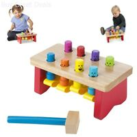 Mallet Pounding Bench Nail Wooden Kids Toy Hammer Set Play Peg Melissa & Doug
