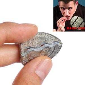 Monedas de doble mordida dólares magia la calle trucos de magia prop mon KY