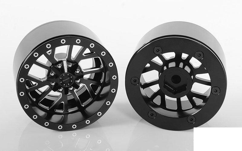 RC4WD 1911 1.9  mm ruedas Z-W0274 Neg Offset más amplio seguimiento Multi Spoke hexagonal
