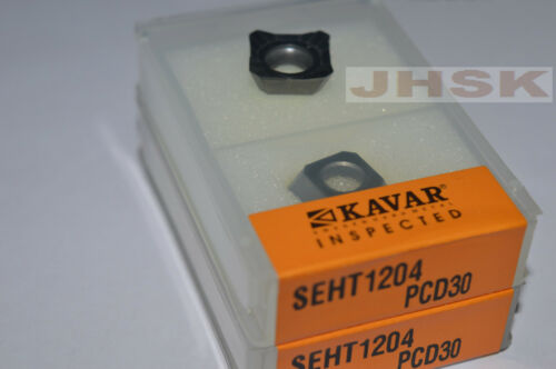 2pcs SEHT1204AFFN  PCD30  Used for Aluminum  Polycrystalline diamond tools PCD