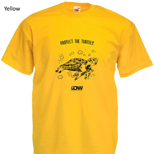Diver's Watches PROTECT THE TURTLES Cotton Short-Sleeve T Shirt In 13 Colours