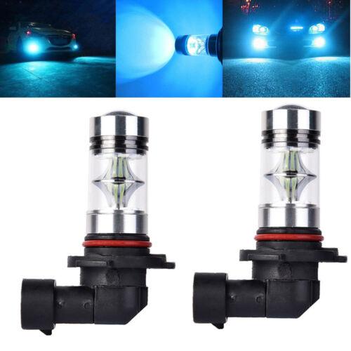 2Pcs 9005 8000K HB3 100W LED 20 Chips 2323 2835 SMD Fog Driving DRL Light Bulbs