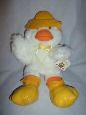 "Spring Soft Expressions Duck 17"" Rain Gear Plush Soft Toy Stuffed Animal"