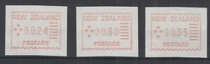 NEW-ZEALAND-1984-24c-30c-35c-FIRST-FRAMA-SET-ACS-F1-Cat-150