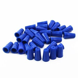 100Pcs-Blue-P2-Wire-Connector-Twist-On-Terminals-Cap-Spring-22-14-AWG