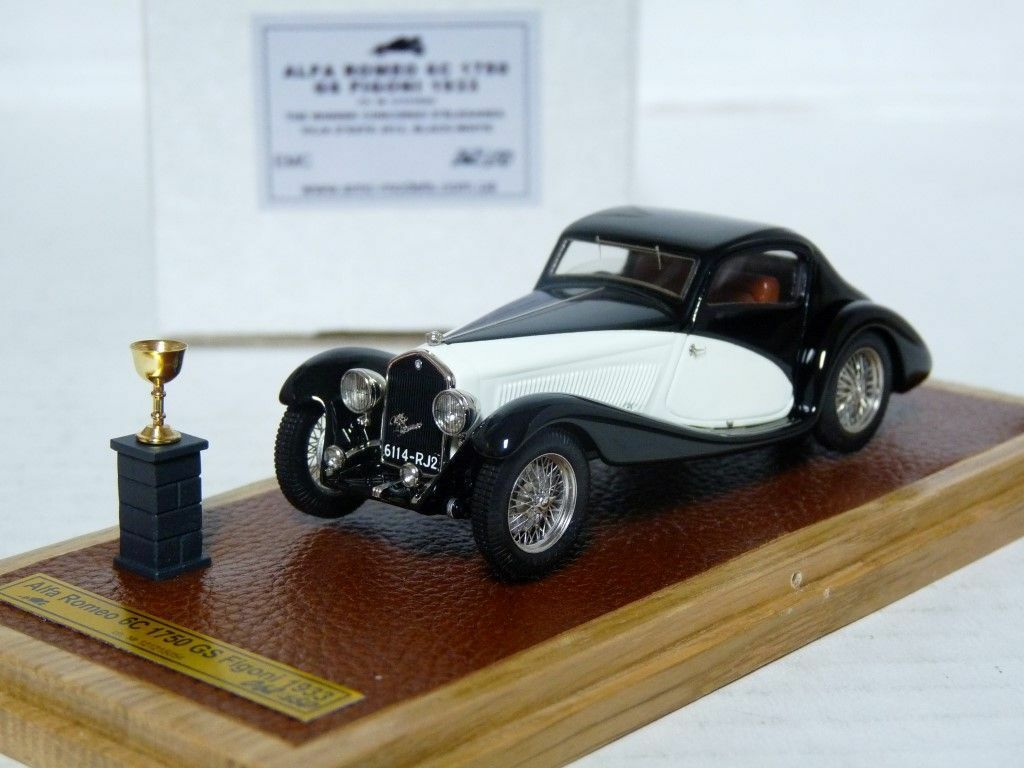 EMC Pivtorak 1 43 1933 Alfa Romeo 6C 1750 GS Figoni Handmade Resin Model Car
