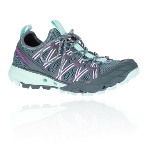 Merrell Womens Choprock Hiking Shoes Blue Grey Sports Outdoors Breathable