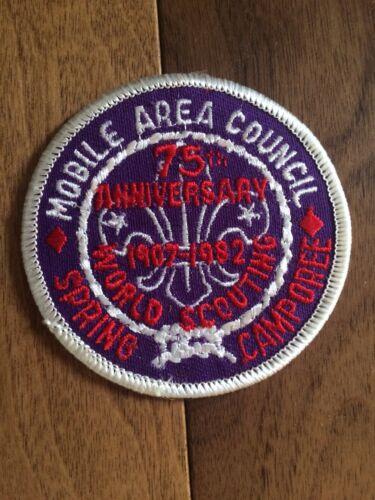 "Vintage 1982 BSA Boy Scout Patch Mobile Area Council ""SPRING CAMPOREE"""