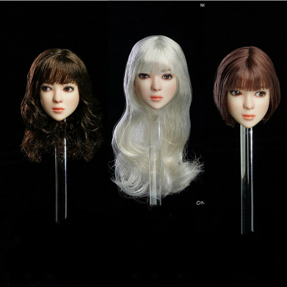 ONLYGIRL LG05 16 Movable Eyes Beauty Head autoving Planted Hair Head Sculpt giocattoli