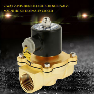 DC-12V-1-inch-2-Way-Brass-Electric-Solenoid-Valve-Magnetic-Air-Normally-Closed