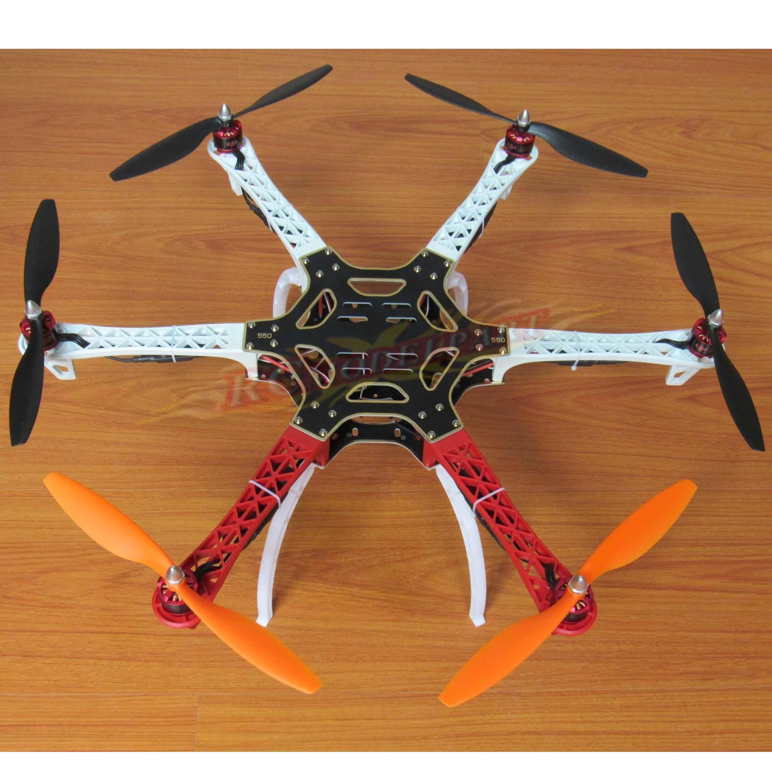 F550 hexacopter rahmen hobbypower 920kv bl - simonk 30a esc gemfan 1045