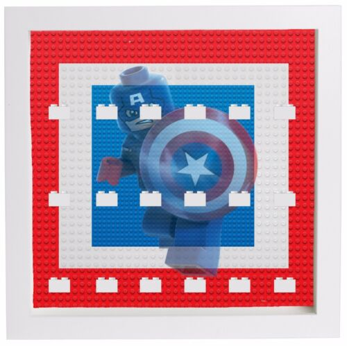 Lego Marvel Captain America Minifigures Display Case Picture Frame mini figures