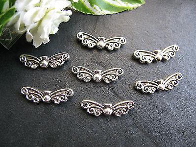 10 Engelsflügel,Flügel,Zwischenperlen,Schmetterlingsart, Flügel, Metallperle