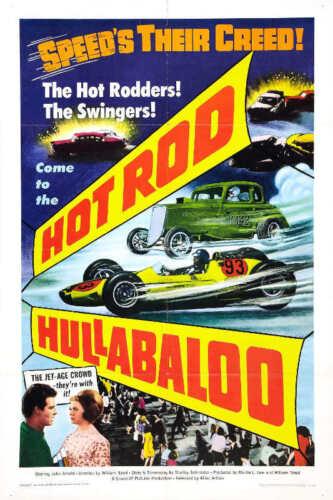 1966 HOT ROD HULLABALOO VINTAGE ACTION MOVIE POSTER PRINT 36x24 9 MIL PAPER