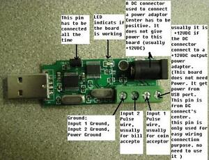 Details about Coin,Note bill Validator Jukebox USB interface board