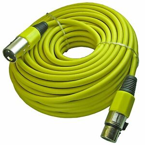 yellow 100 ft foot shielded 3pin xlr male to female mic cable microphone cord 817375017249 ebay. Black Bedroom Furniture Sets. Home Design Ideas