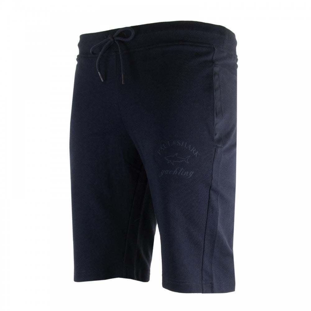 Paul & Shark Mens Print Logo Sweat Shorts (Navy) | Qualitativ Hochwertiges Produkt