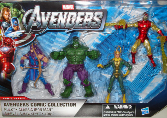 AVENGERS COMIC COLLECTION ( WALMART ONLY ) MARVEL MOVIE ACTION FIGURE ( SET  2 )