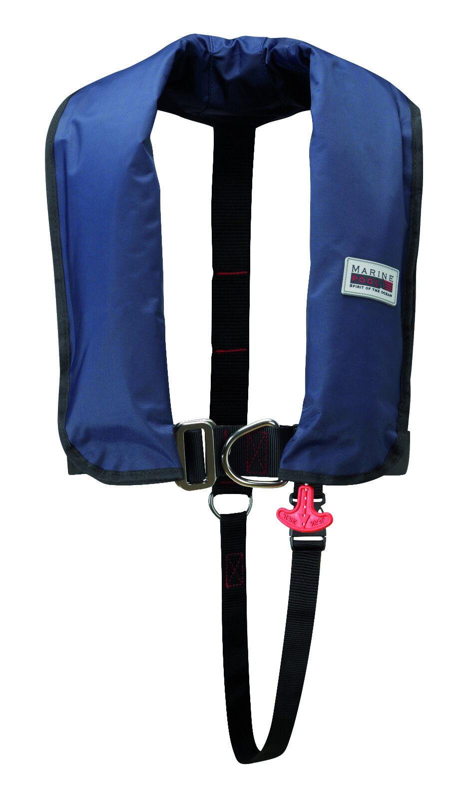 Marinepool Rettungsweste ISO 300 N Classic Automatik Harness NAVY