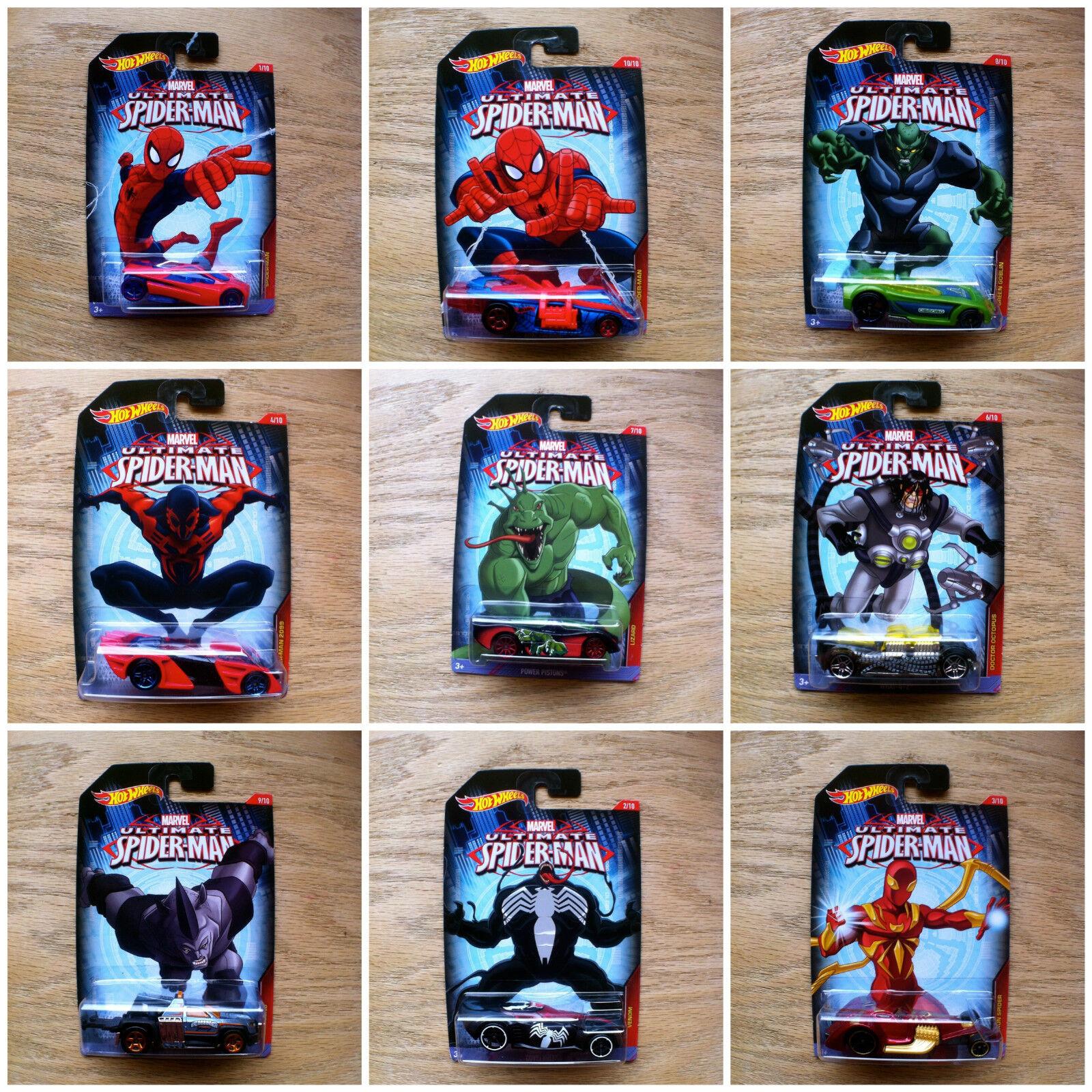 Hot Wheels ULTIMATE SPIDER-MAN BUNDLE Complete Mattel 2014 NEW SEALED 10 diecast