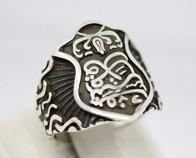 Turkish Handmade 925 Sterling Silver New Design Onyx Mens Ring Sz 11 Free Resize