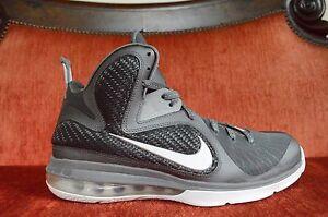 separation shoes 7c586 52b9c Image is loading WORN-ONCE-Nike-LeBron-9-IX-Cool-Grey-