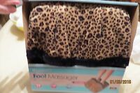 New, Health Touch Foot Massager , Comfort Fabric In Animal Print With Vibration