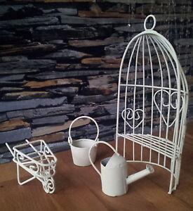 pavillionbank puppenhaus m bel gartenm bel metall 1 12 1 12 creme beige set ebay. Black Bedroom Furniture Sets. Home Design Ideas