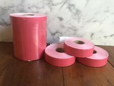 8 Rolls Sealed Red Monarch 1100 Store Price Tag Marking Gun Labels Stickers