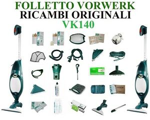 6 PROFUMI TUBO E ACCESSORI FOLLETTO Vk 140 150 200 NO ORIGINALE 1 FILTRO MOTORE 6 SACCHETTI