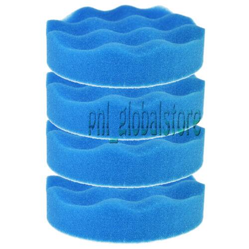 "4x 6/"" Blue Soft Waffle Polishing Buffer Pad Foam Buffing pad For Car Polisher"