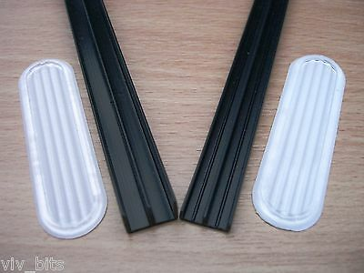 120cm FULL LENGTH VIVARIUM PVC 4mm GLASS RUNNERS track for 4ft vivs + handles
